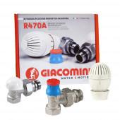 """Giacomini R470FX003 - 1/2"""" - Радиаторный термокомплект угловой"""